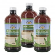 3 flacons de gelée d'Aloe vera