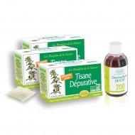 3 tisanes Dépuratives-Détox et 1 flacon de Desmodium Detox 200