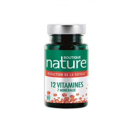 12 vitamines 7 Minéraux d'origine naturelle