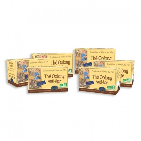 LOT DE 6 BOITES DE THE OOLONG BIO